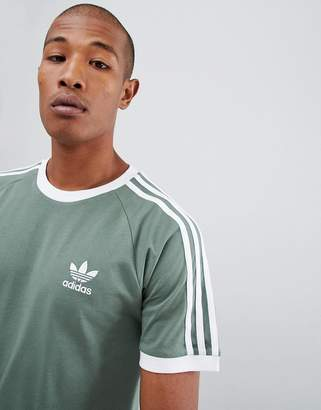 adidas California T-Shirt In Green DV2553