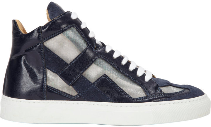 Maison Martin Margiela Mesh Inset High-Top Sneaker