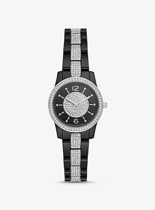Michael Kors Petite Runway Pave Ceramic Watch