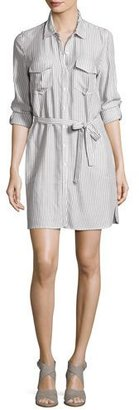 Soft Joie Willa B Striped Belted Shirtdress, White $198 thestylecure.com