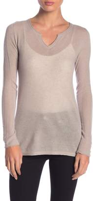 Inhabit Cashmere Split Neck Sweater