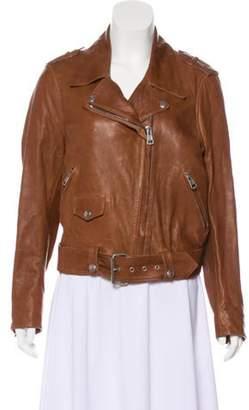 Acne Studios Leather Biker Jacket Brown Leather Biker Jacket