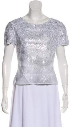 St. John Embellished Short Sleeve Top w/ Tags