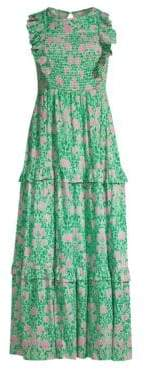 DAY Birger et Mikkelsen Banjanan Iris Smocked Maxi Dress
