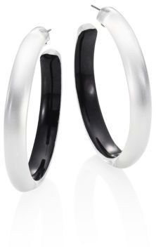 Alexis Bittar Large Lucite Hoop Earrings/2 $125 thestylecure.com