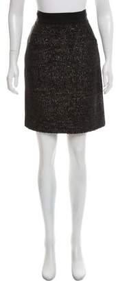 J. Mendel Textured Knee-Length Skirt