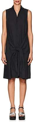 Yohji Yamamoto Regulation Women's Basket-Weave Cotton-Blend Shirtdress - Black