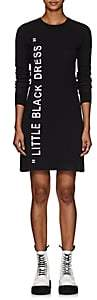 "Off-White Women's ""Little Black Dress"" Intarsia-Knit Sweaterdress - Black"