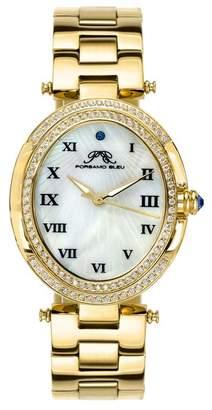 Swarovski Porsamo Bleu Women's South Sea Oval Crystal Bracelet Watch, 30.75mm