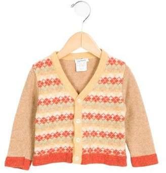 Cacharel Girls' Wool Argyle Cardigan
