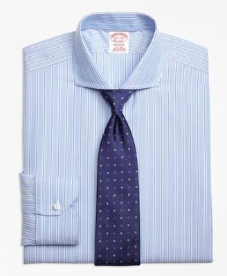 Brooks Brothers Madison Classic-Fit Dress Shirt, Non-Iron Royal Oxford Twin Stripe