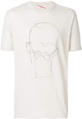 Damir Doma face graphic T-shirt
