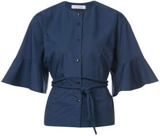 Palmer Harding Palmer / Harding belted collarless shirt