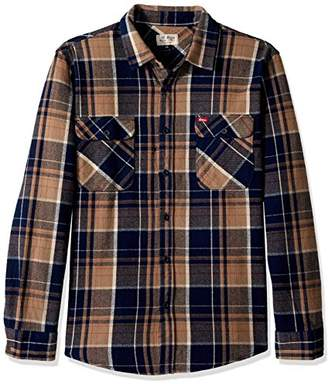 Brixton Men's Coors Bowery Long Sleeve Flannel