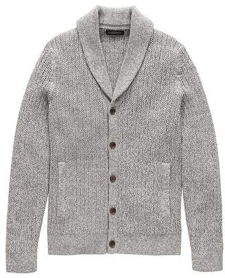 SUPIMA® Cotton Shawl-Collar Cardigan Sweater