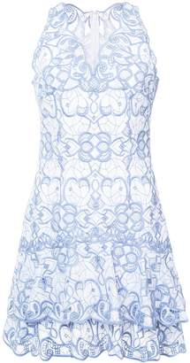 Jonathan Simkhai embroidered tiered mini dress
