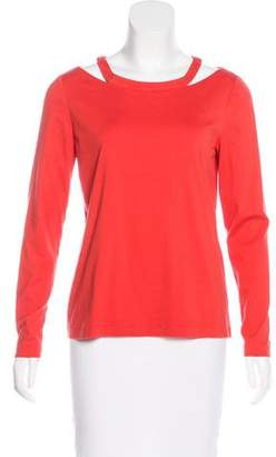 Lafayette 148 Cutout Long Sleeve Top