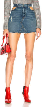 GRLFRND Eva Cut Out Denim Skirt