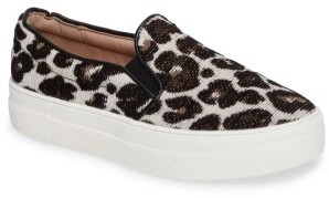 Women's Topshop Tucker Leopard Print Slip-On Sneaker $40 thestylecure.com