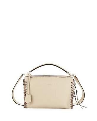 Fendi Selleria Lei Medium Calf and Snakeskin Top-Handle Bag