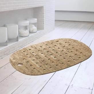 Authentics UK Cork And Rubber Bath Mat With Natural Cork Veneer