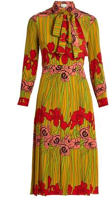 Gucci Iris and poppy-print silk dress