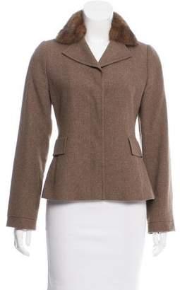 Akris Fur-Accented Wool Jacket