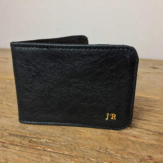 96a11c6a4546 Freeload Leather Accessories Personalised Leather Card Holder Black