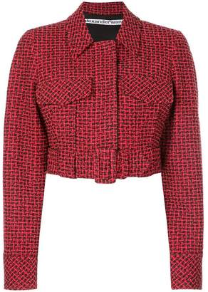 Alexander Wang belted cropped jacket