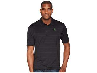 Champion College Michigan State Spartans Textured Solid Polo Men's Short Sleeve Pullover