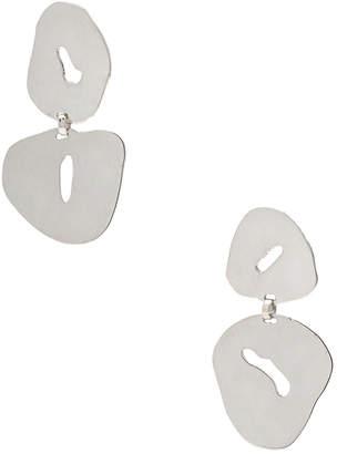 Modern Weaving Floating Oval Earrings