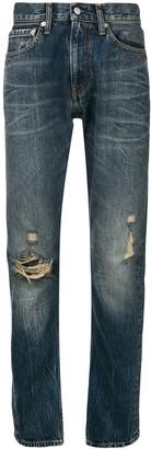 Calvin Klein Jeans straight leg ripped knee jeans