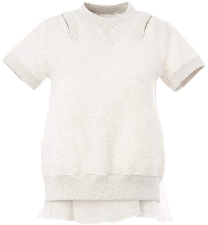 Sacai layered sweatshirt