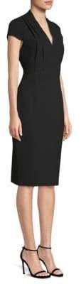 Elie Tahari Gerarda Short Sleeve Sheath Dress