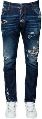 DSQUARED2 16.5cm Kenny Twist Patches Denim Jeans