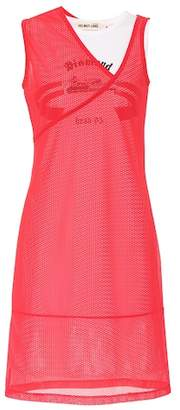 Helmut Lang Mesh and cotton minidress