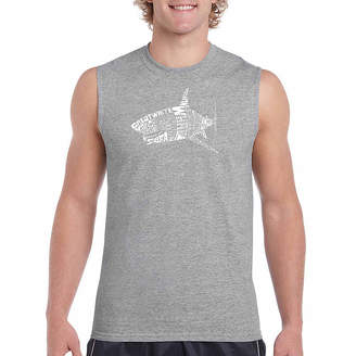 LOS ANGELES POP ART Los Angeles Pop Art Men's Species of Shark Sleeveless T-Shirt - Big and Tall