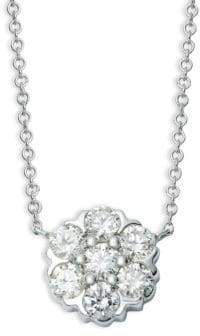 Saks Fifth Avenue 14K White Gold & Diamond Pendant Necklace