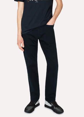 Paul Smith Men's Standard-Fit 11.8oz 'Super Soft Cross-Hatch' Navy Over-Dyed Jeans