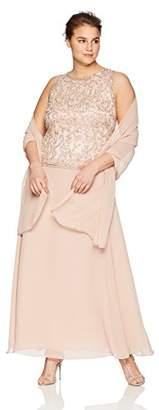 J Kara Women's Plus Size Long Sleeveless Dress Scarf
