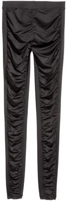 H&M Gathered Leggings - Black