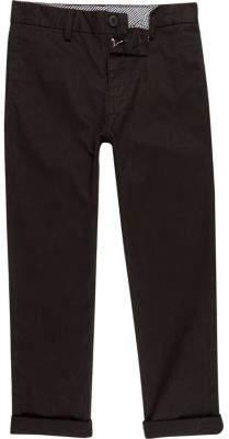 River Island Boys black chino pants