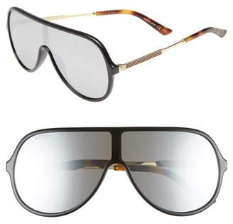 Gucci 99mm Oversize Shield Sunglasses