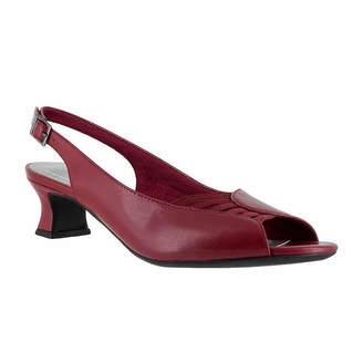 Easy Street Shoes Bliss Womens Pumps Buckle Open Toe Kitten Heel