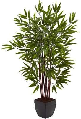 Beachcrest Home Floor Bamboo Tree in Planter