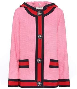 Gucci Cotton-blend twill hoodie