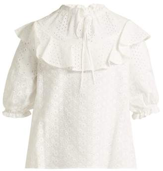 See by Chloe Broderie Anglaise Cotton Top - Womens - White