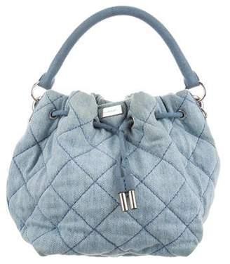 Stella McCartney Quilted Denim Bucket Bag