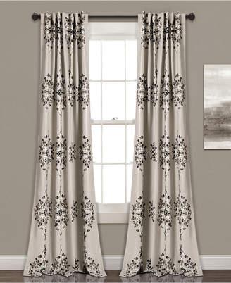 "Lush Decor Keya Medallion 84"" x 52"" Room Darkening Window Curtain Set"