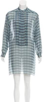 Burberry Silk Check Print Dress